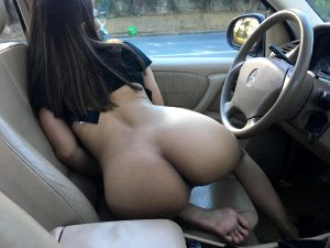 I Love To Be Nude When Driving Around Town!